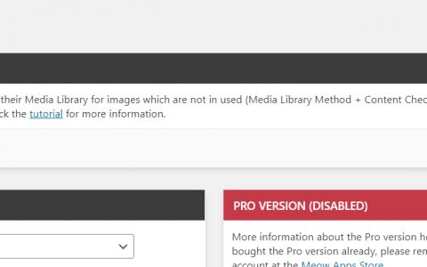 wordpress Media Cleaner 插件 :清理无用媒体文件 无引用图片